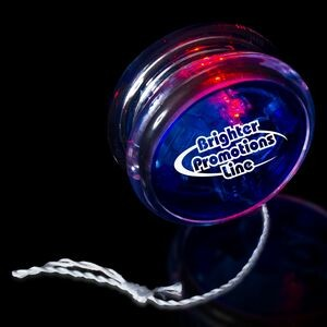 "2"" Light-Up Blue/Clear Yo-Yo with Red LED"