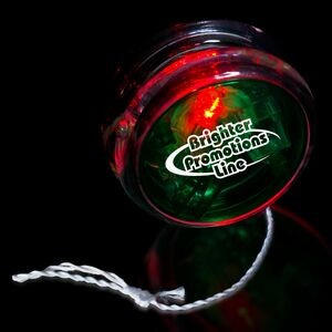 "2"" Light-Up Green/Clear Yo-Yo with Red LED"